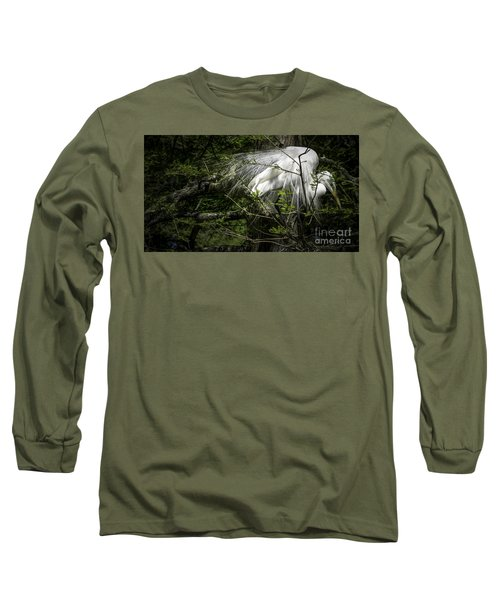 Great Egret #2 Long Sleeve T-Shirt