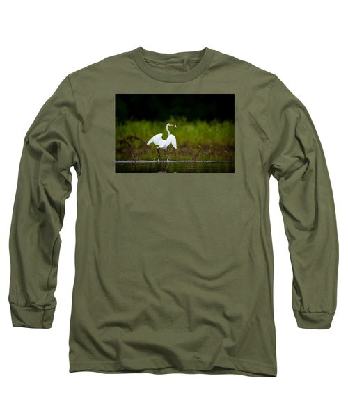 Great Egret, Great Fisherman Long Sleeve T-Shirt