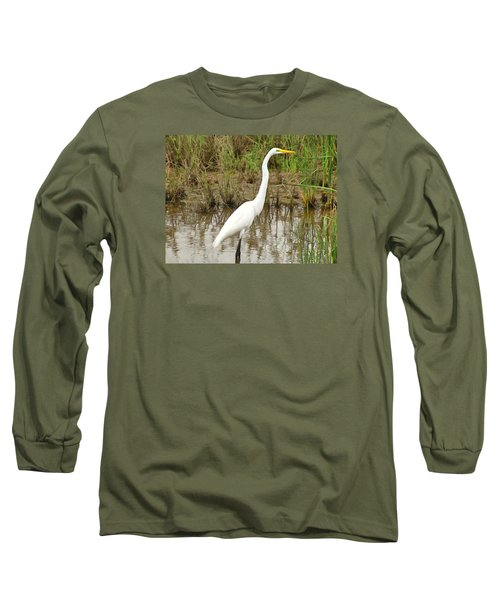Great Egret Long Sleeve T-Shirt by Maciek Froncisz