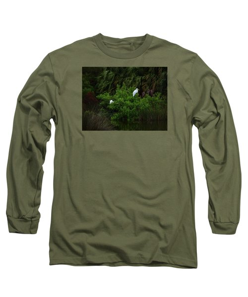 Great Egrets Long Sleeve T-Shirt