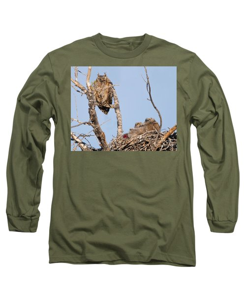 Great Horned Owl Family Long Sleeve T-Shirt