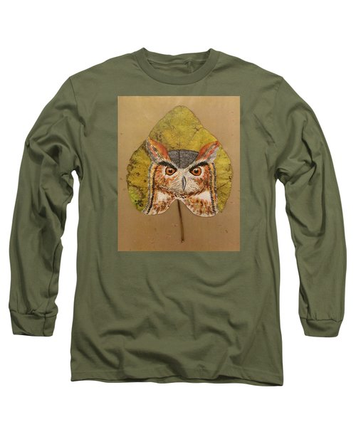 Great Horned Owl Long Sleeve T-Shirt by Ralph Root