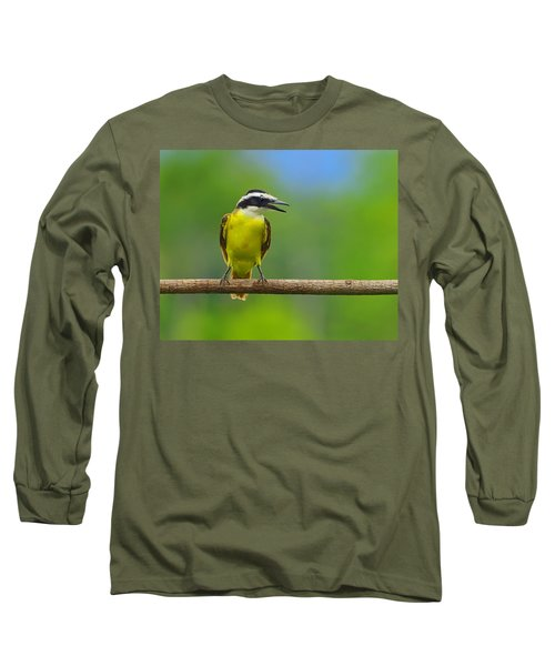 Great Kiskadee Long Sleeve T-Shirt by Tony Beck