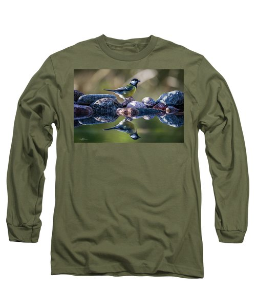 Great Tit On The Stone Long Sleeve T-Shirt