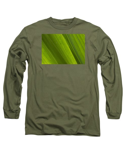 Green Abstract 2 Long Sleeve T-Shirt