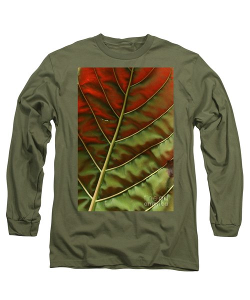 Green And Red Leaf Silky Dunes 2 Long Sleeve T-Shirt
