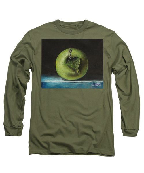 Green And Yellow Apple Long Sleeve T-Shirt