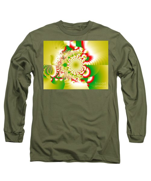 Green And Yellow Collide Long Sleeve T-Shirt