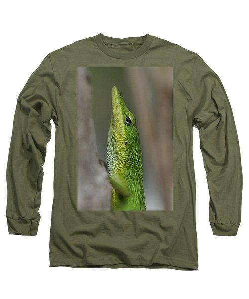 Green Anole Long Sleeve T-Shirt