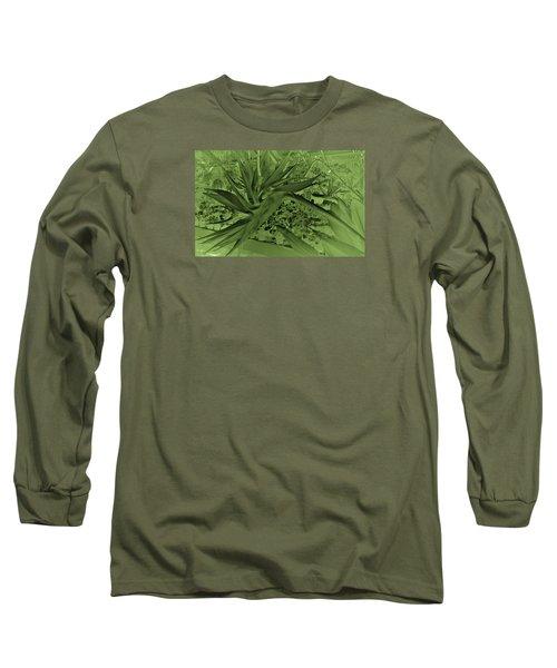 Long Sleeve T-Shirt featuring the photograph Green Bird Of Paradise by Nareeta Martin