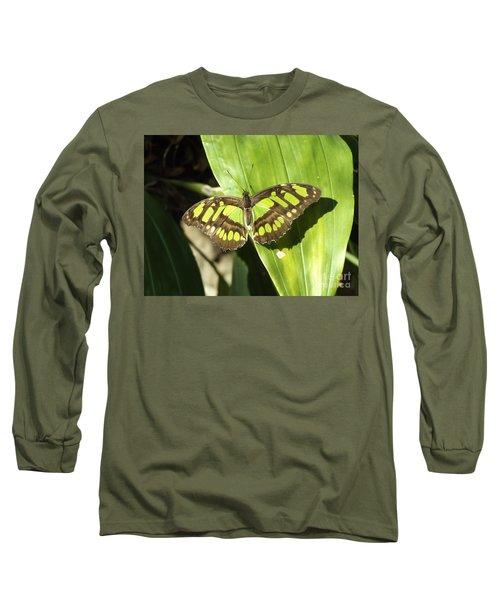 Green Butterfly Long Sleeve T-Shirt