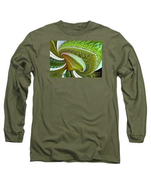 Long Sleeve T-Shirt featuring the digital art Green Diamonds by Melissa Messick