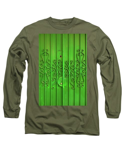 Long Sleeve T-Shirt featuring the photograph Green Door by Carlos Caetano
