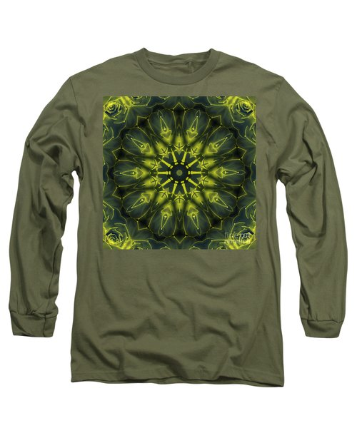 Succulent Mandala Long Sleeve T-Shirt