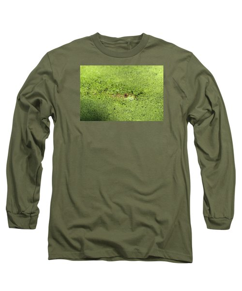 Green Frog Stony Brook New York Long Sleeve T-Shirt