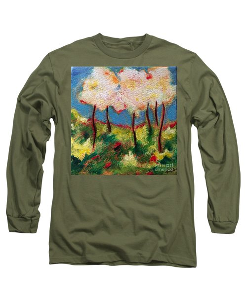 Green Glade Long Sleeve T-Shirt by Elizabeth Fontaine-Barr