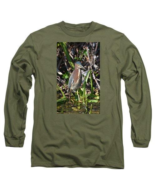 Green Heron Everglades Long Sleeve T-Shirt