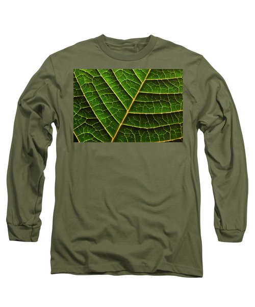 Green Leaf Macro Long Sleeve T-Shirt