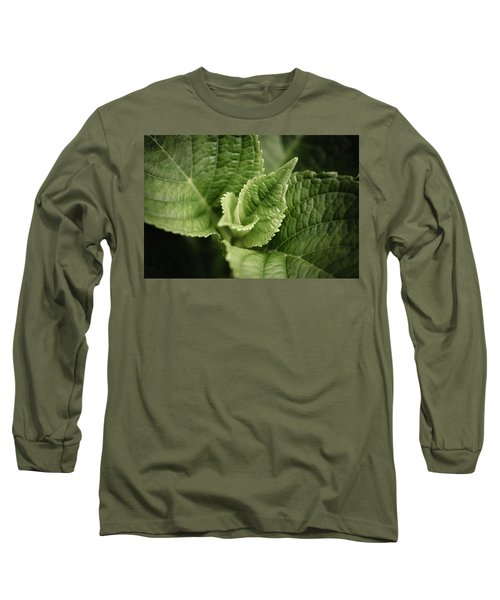 Long Sleeve T-Shirt featuring the photograph Green Leaves Abstract II by Marco Oliveira