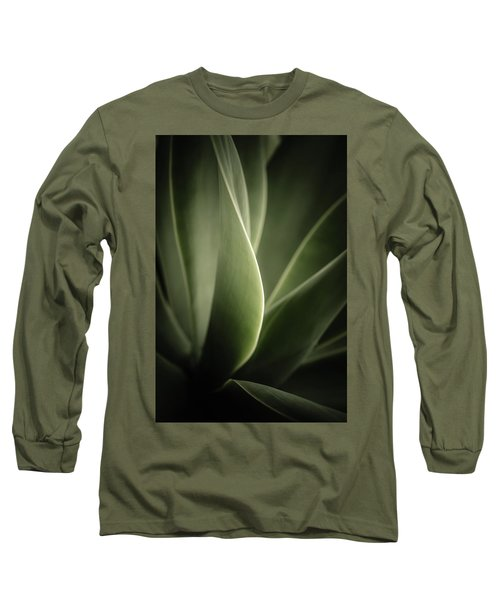 Long Sleeve T-Shirt featuring the photograph Green Leaves Abstract by Marco Oliveira