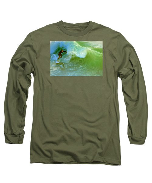 Long Sleeve T-Shirt featuring the photograph Green Machine by Everette McMahan jr