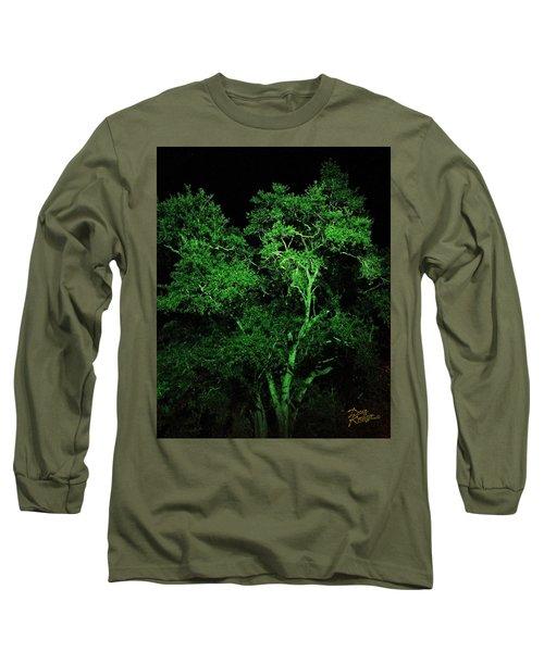 Green Magic Long Sleeve T-Shirt by Doug Kreuger