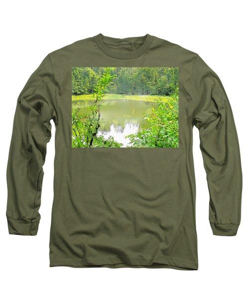 Green On Lake Long Sleeve T-Shirt