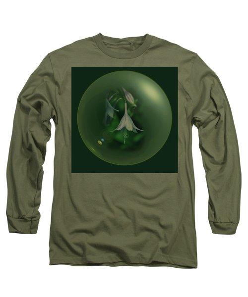 Green Orb Flower Long Sleeve T-Shirt