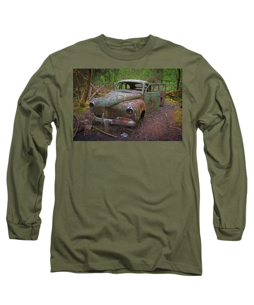 Green Relic Long Sleeve T-Shirt by Cathy Mahnke