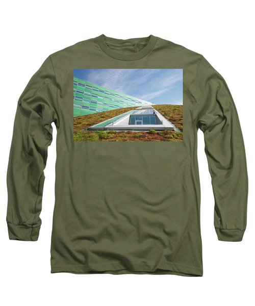 Green Roof Long Sleeve T-Shirt by Hans Engbers