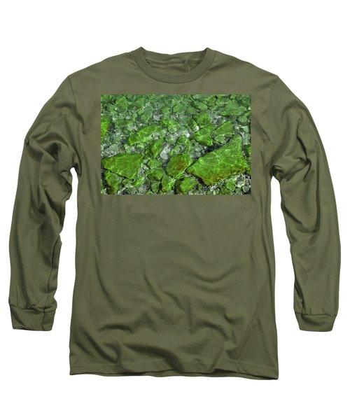 Long Sleeve T-Shirt featuring the photograph Green Stone Waters by LeeAnn McLaneGoetz McLaneGoetzStudioLLCcom