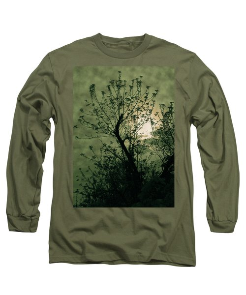 Green Sunset Long Sleeve T-Shirt