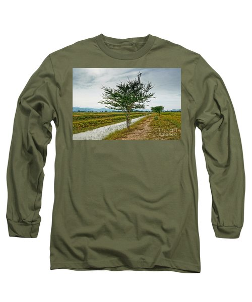 Long Sleeve T-Shirt featuring the photograph Green Tree by Arik S Mintorogo