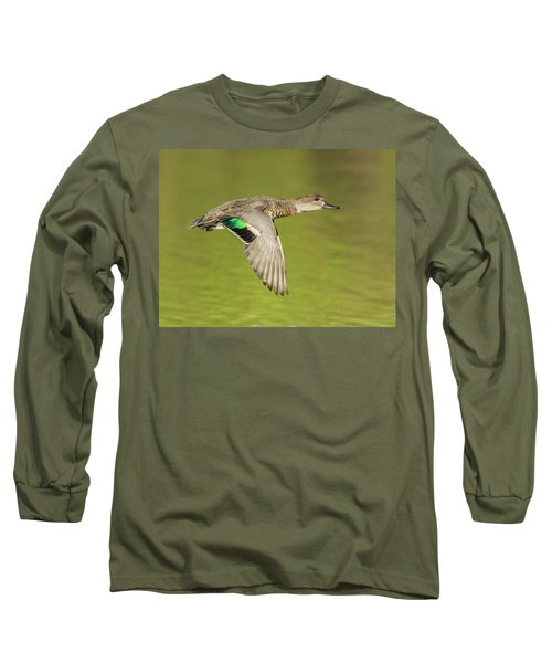 Green-winged Teal 6320-100217-2cr Long Sleeve T-Shirt