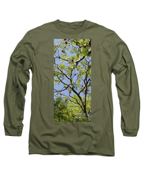 Greenery Center Panel Long Sleeve T-Shirt