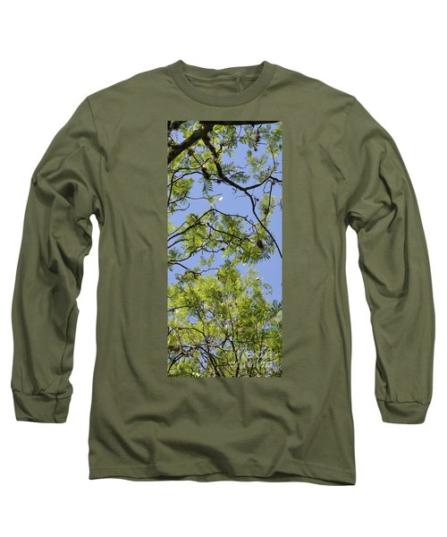 Greenery Right Panel Long Sleeve T-Shirt