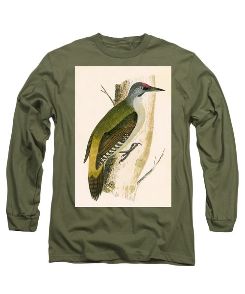 Grey Woodpecker Long Sleeve T-Shirt