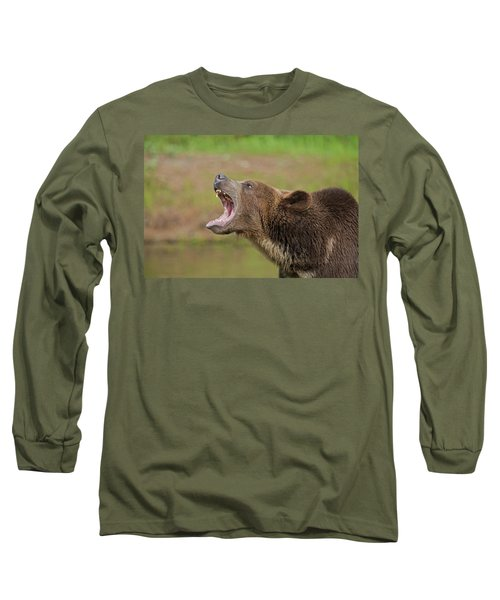 Grizzly Bear Growl Long Sleeve T-Shirt