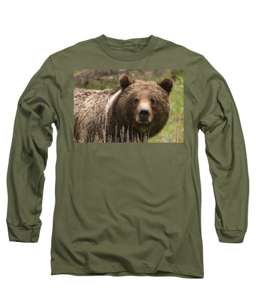 Grizzly Portrait Long Sleeve T-Shirt