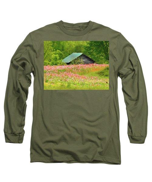 Ground Hog Daze Long Sleeve T-Shirt by Laura Ragland