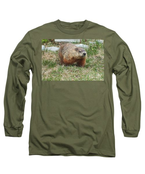 Long Sleeve T-Shirt featuring the photograph Groundhog by Vicky Tarcau