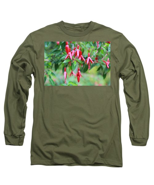 Long Sleeve T-Shirt featuring the photograph Growing In Red And Purple by Laddie Halupa