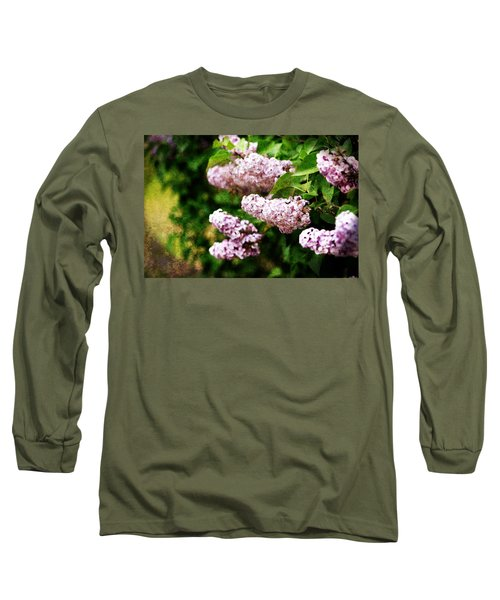 Grunge Lilacs Long Sleeve T-Shirt
