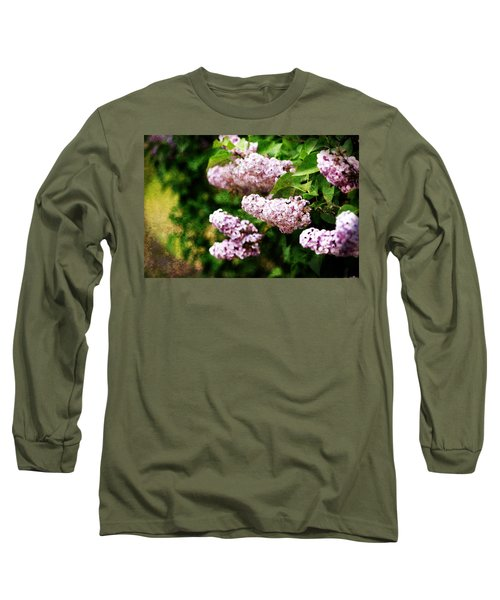 Long Sleeve T-Shirt featuring the photograph Grunge Lilacs by Antonio Romero