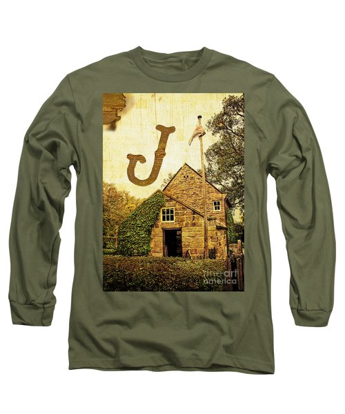 Grungy Melbourne Australia Alphabet Series Letter J Captain Jame Long Sleeve T-Shirt