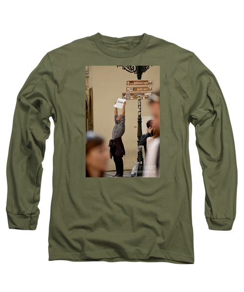 Long Sleeve T-Shirt featuring the digital art Guide by Leo Symon