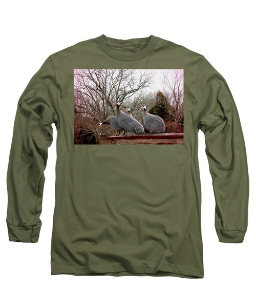 Long Sleeve T-Shirt featuring the photograph Guinea Foul by Bonnie Willis