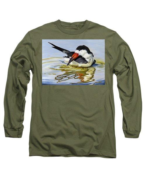 Gulf Coast Black Skimmer Long Sleeve T-Shirt by Phyllis Beiser