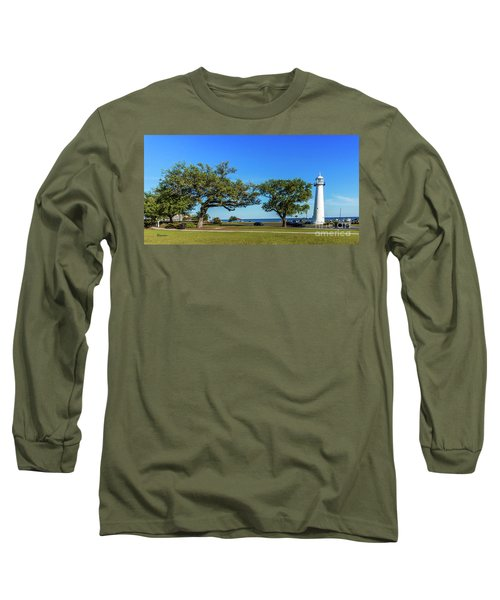 Gulf Coast Lighthouse Seascape Biloxi Ms 3663b Long Sleeve T-Shirt