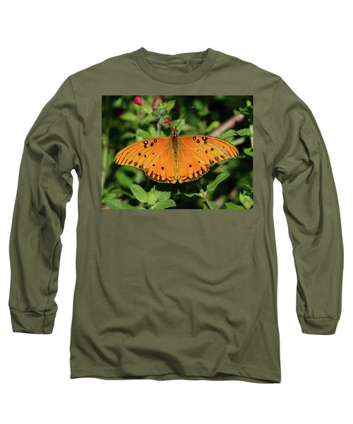 Gulf Fritillary Butterfly Long Sleeve T-Shirt